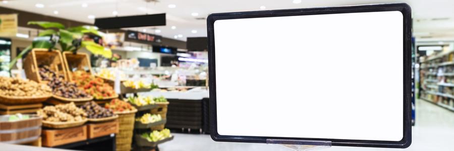 スーパーで活用されているデジタルサイネージの実例