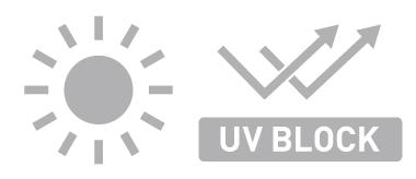 UVブロック機能で変色を防ぐ