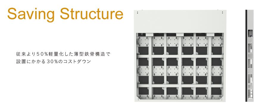 Usurface薄型鉄骨構造